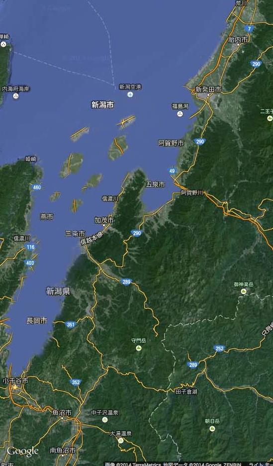 【速報】越後平野が沈没(4月1日)