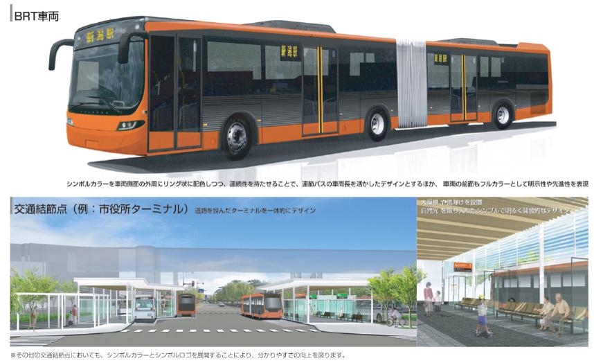 新潟市の次世代バスシステム「BRT(Bus Rapid Transit)」。トータルデザイン概要を発表