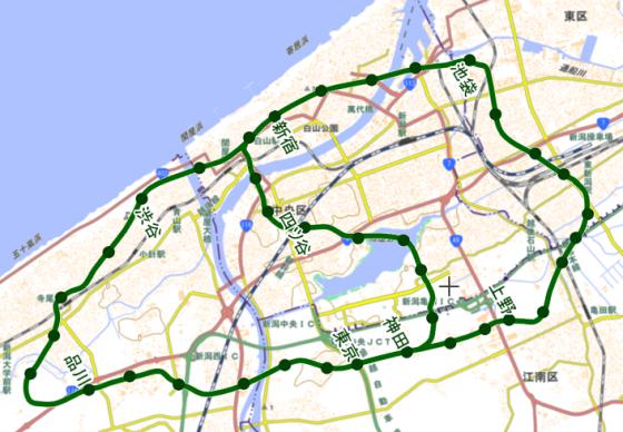 新潟県の各所に山手線を置いてみた。【新潟市・長岡市・上越市・佐渡国中平野】