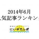 2014年6月の人気記事ランキング